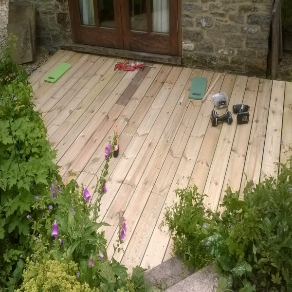 decking being fitted by DGM Interiors