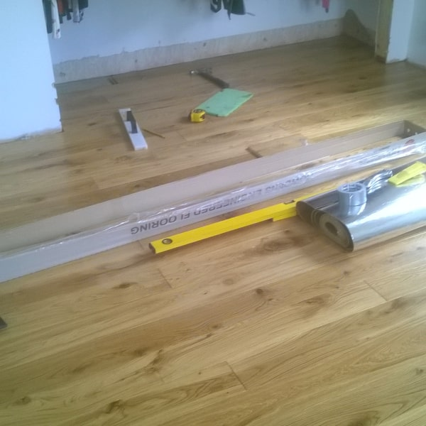wooden flooring being fitted in swindon