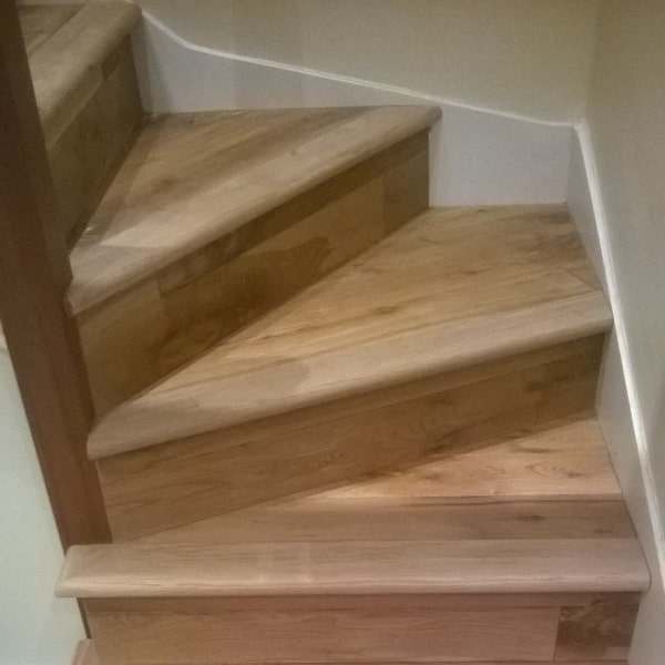 Wooden stairs being laid in swindon